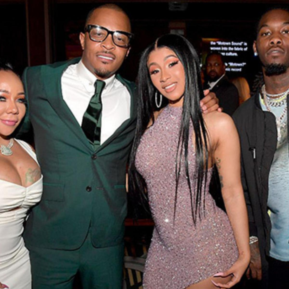Photo Of T.I. And Tiny With Cardi B In Ghana