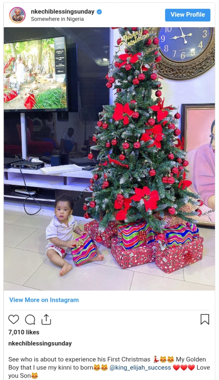 Nkechi Blessing Son Elijah Novah Success First Christmas (3)