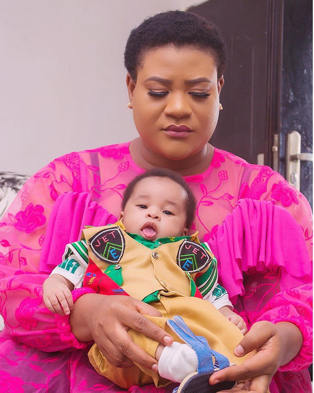 Nkechi Blessing Son Elijah Novah Success First Christmas (2)