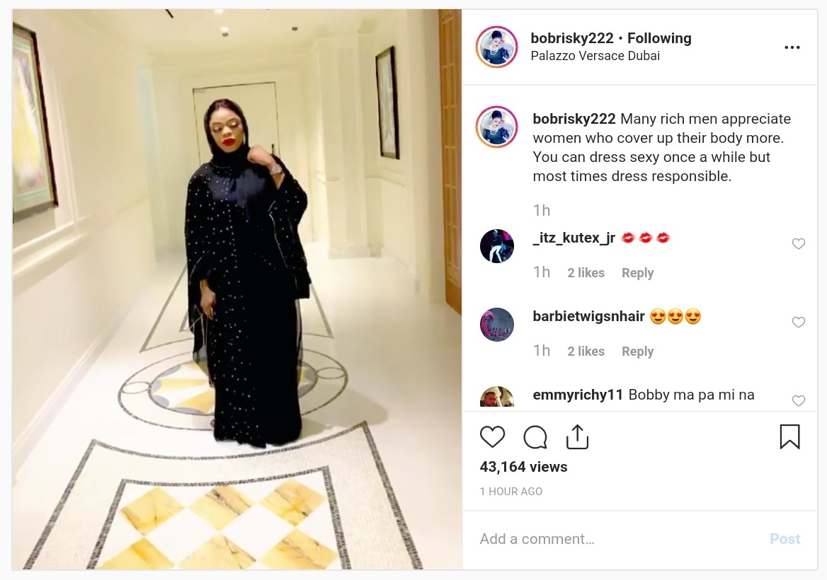 Rich Men Appreciate Women Who Cover Up Their Body Bobrisky (2)