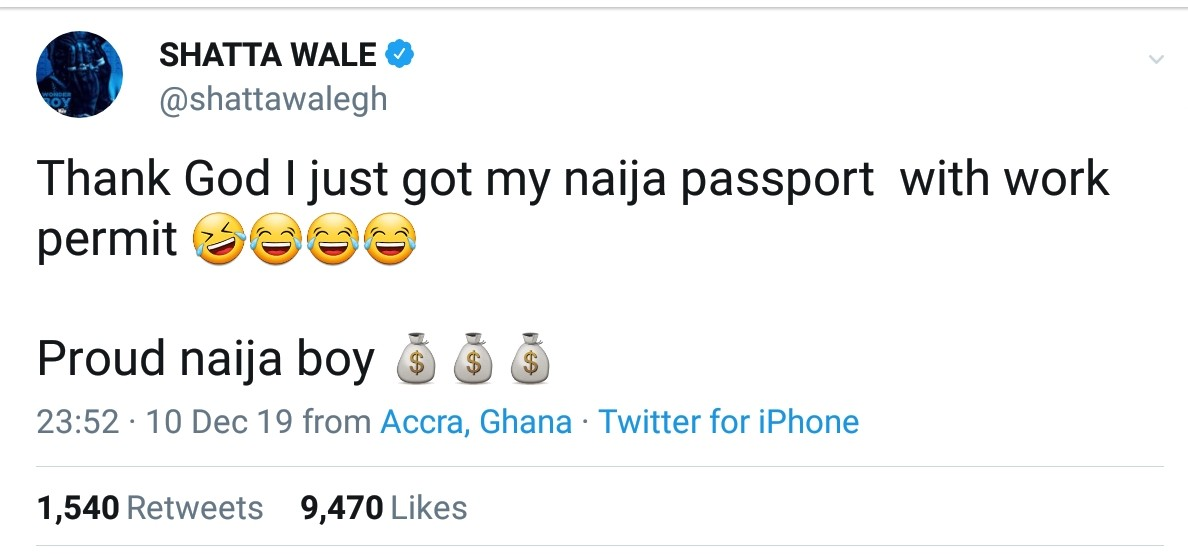 Shatta Wale Naija Passport Work Permit (2)