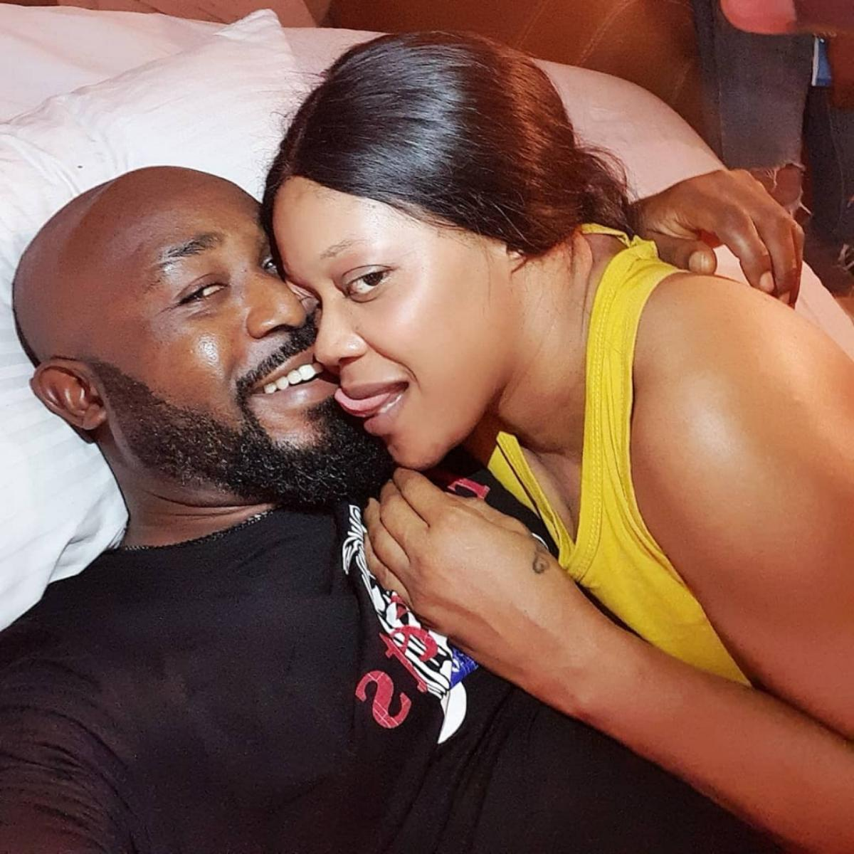 Eve Esin Gives Stanley Igboanugo A Lick On The Lip
