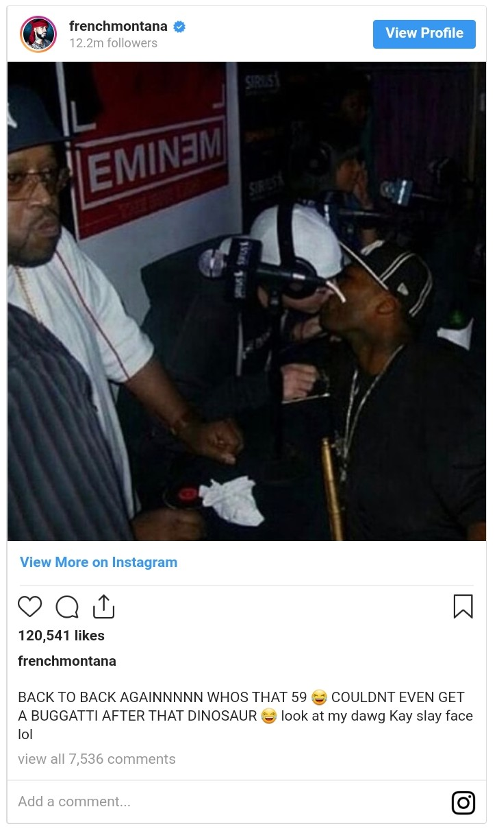 50 Cent And French Montana Beef Over Bugatti (2)