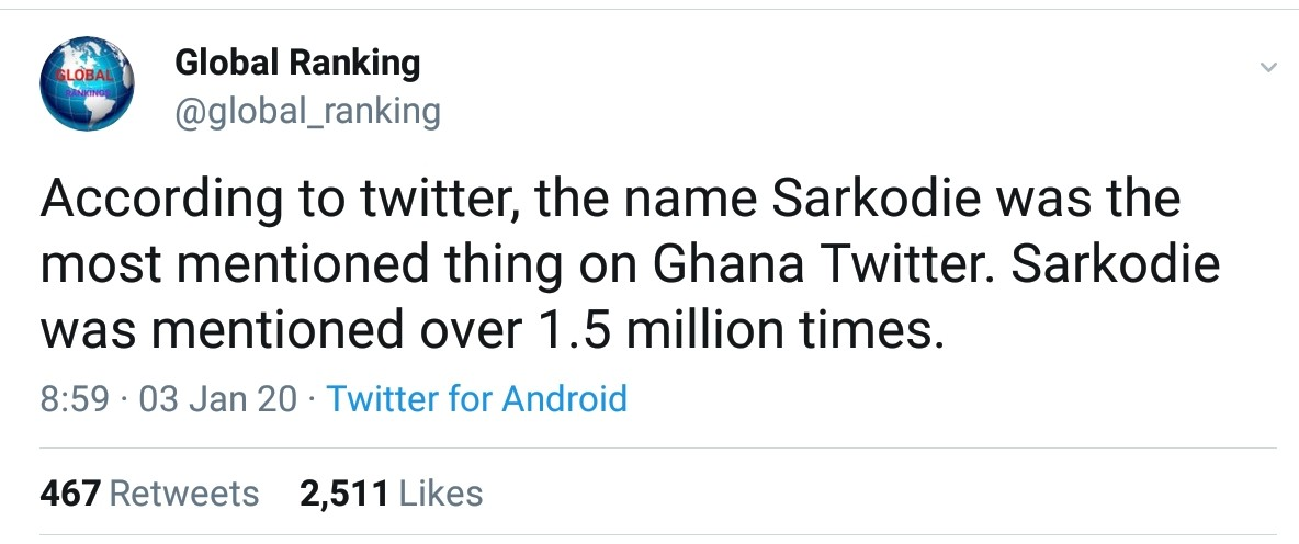 Sarkodie Most Mentioned Thing On Ghana Twitter (2)