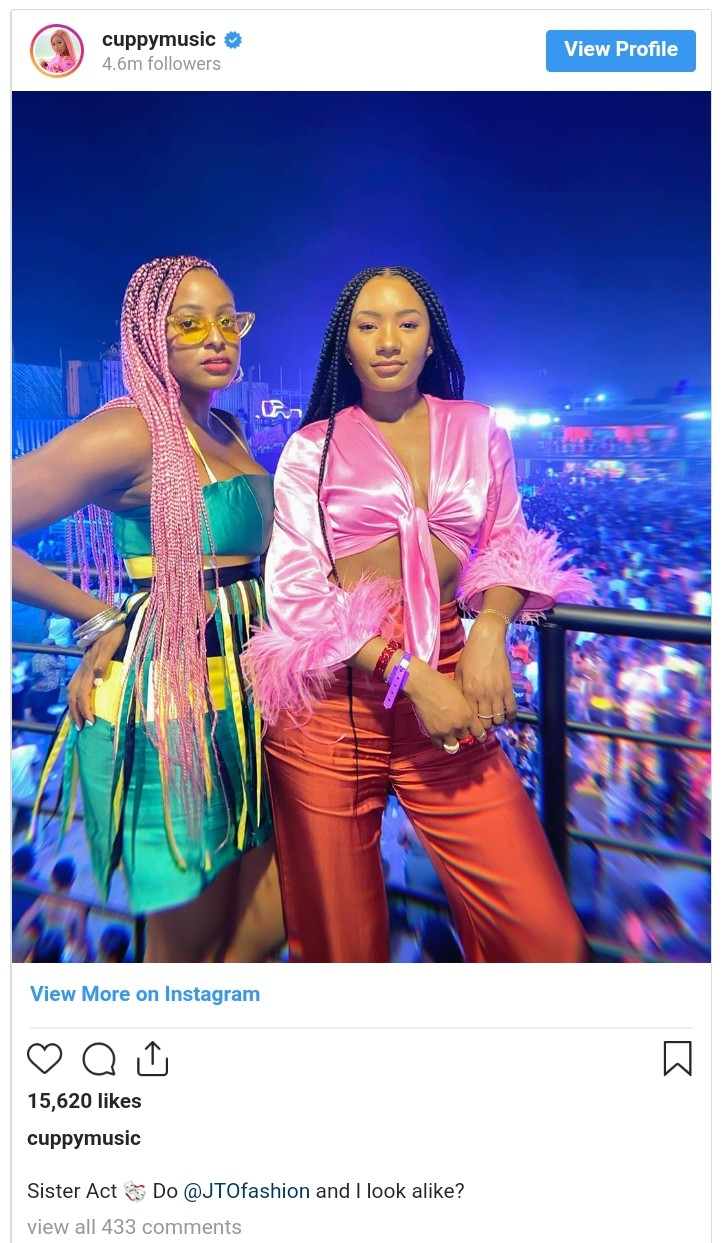 DJ Cuppy And Temi Otedola In New Photo (3)