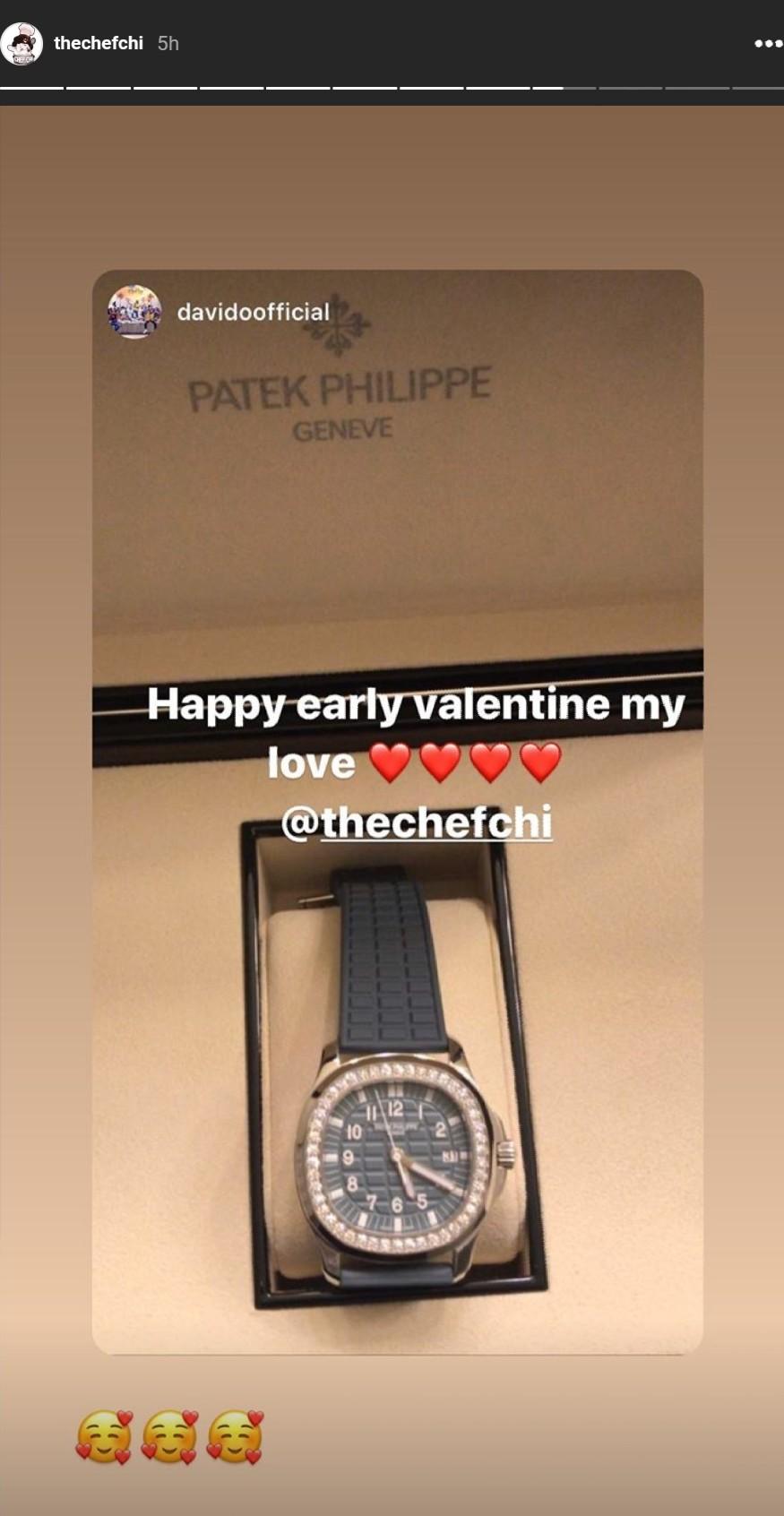 Davido Gifts Chioma Patek Philippe Watch Valentine's Day (2)