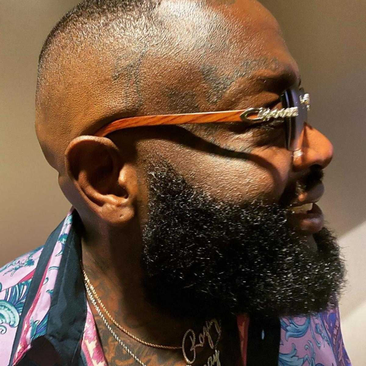 Rick Ross Cuts His Grass