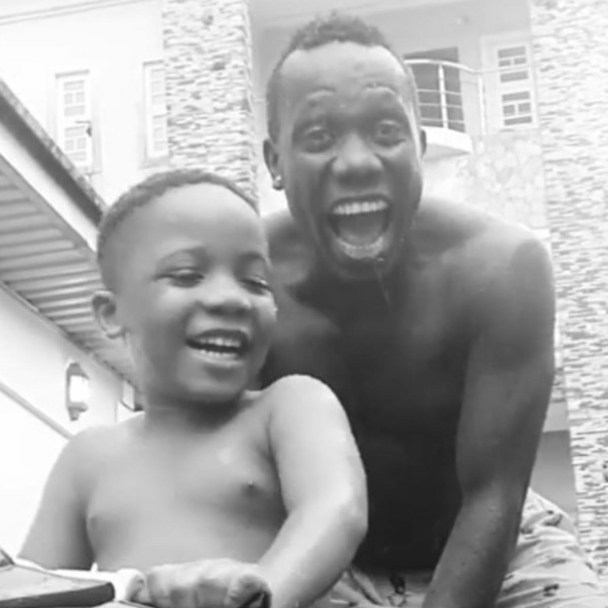 Duncan Mighty Play Football In Rain Swim In The Gutter