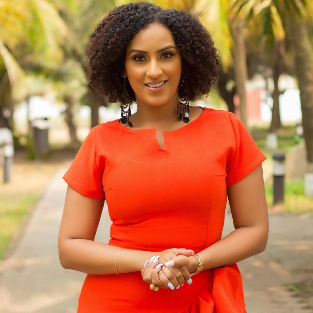 Juliet Ibrahim Dipping Bread Inside Beverage