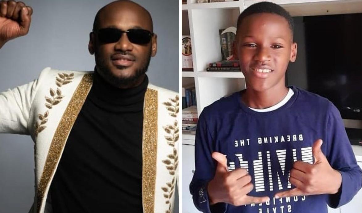 2Baba Celebrates Son Zion Idibia 12 Birthday