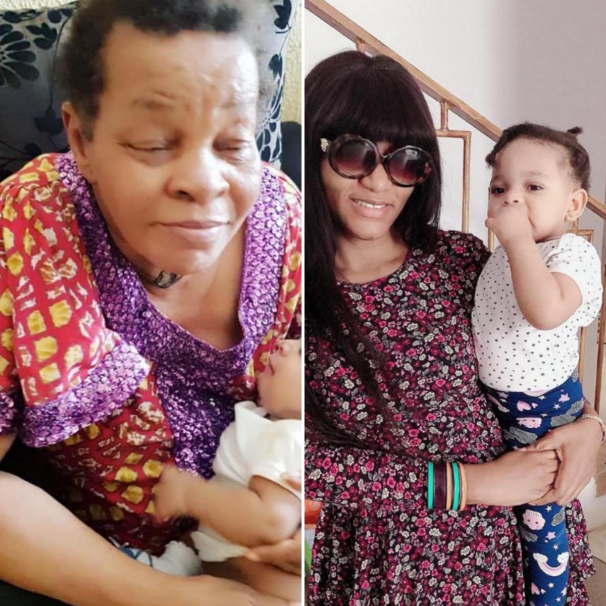 Photo Of Queen Nwokoye Mum With Her Daughter