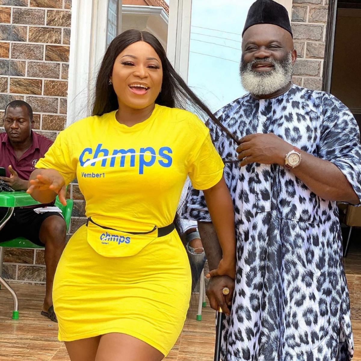Harry B Anyanwu Destiny Etiko Flexing Things Movie Set