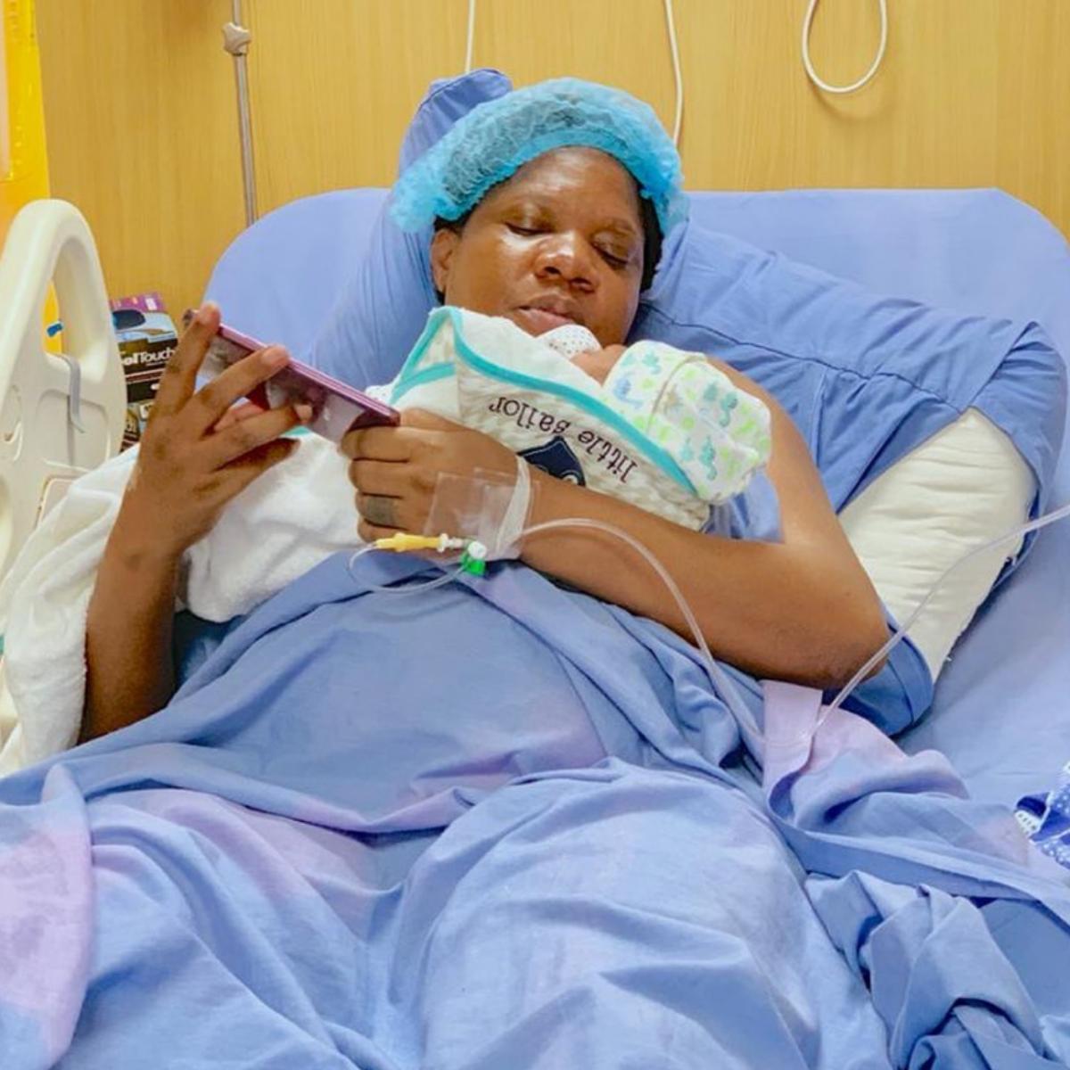 Toyin Abraham Labor Room Video During Childbirth