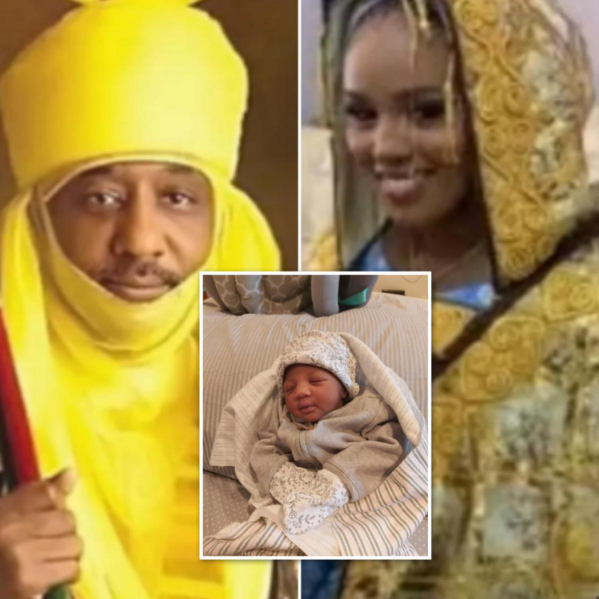 Dethroned Emir of Kano Lamido Sanusi 4th Wife Welcome Baby Girl