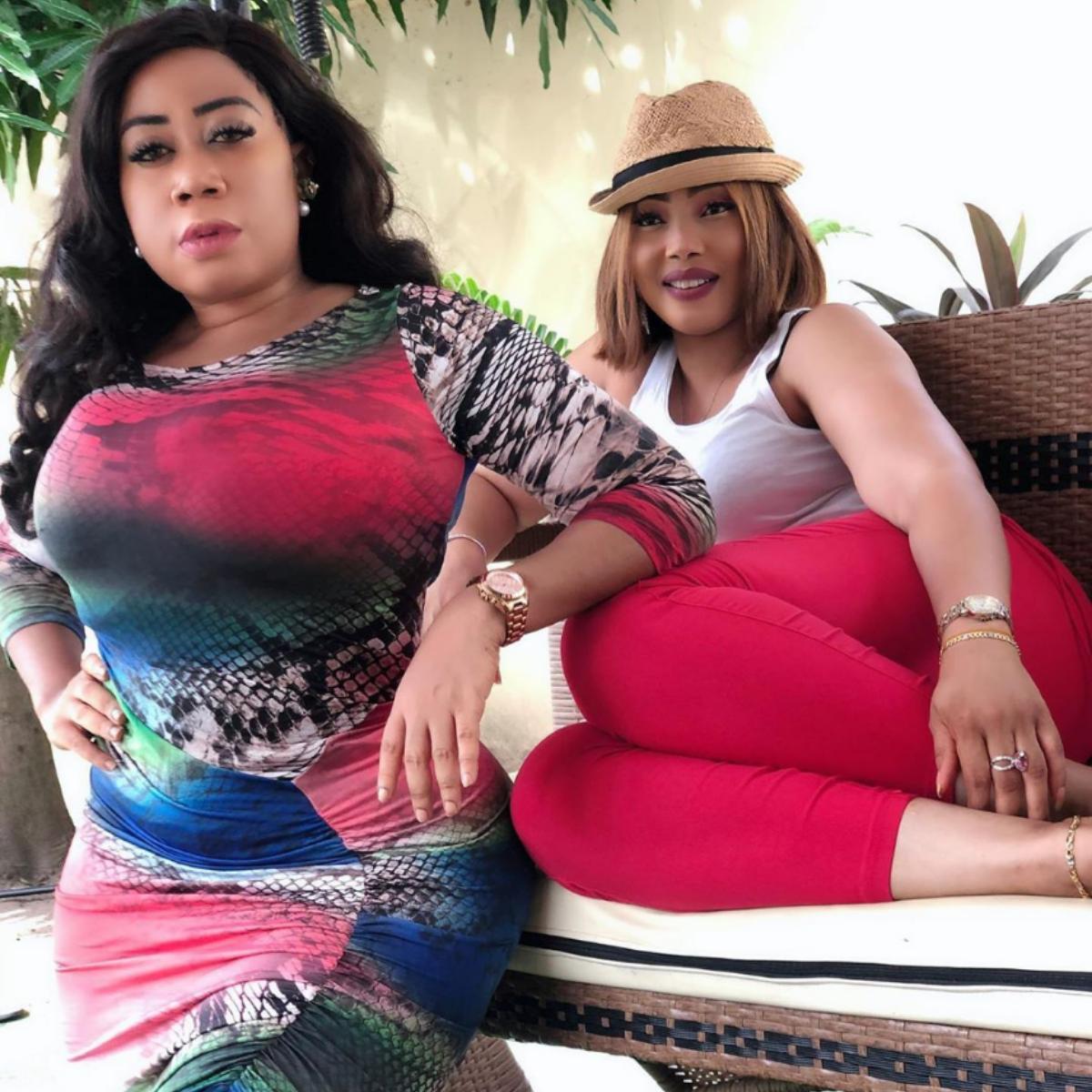 Moyo Lawal Bolanle Ninalowo Wife Bunmi Pose Together