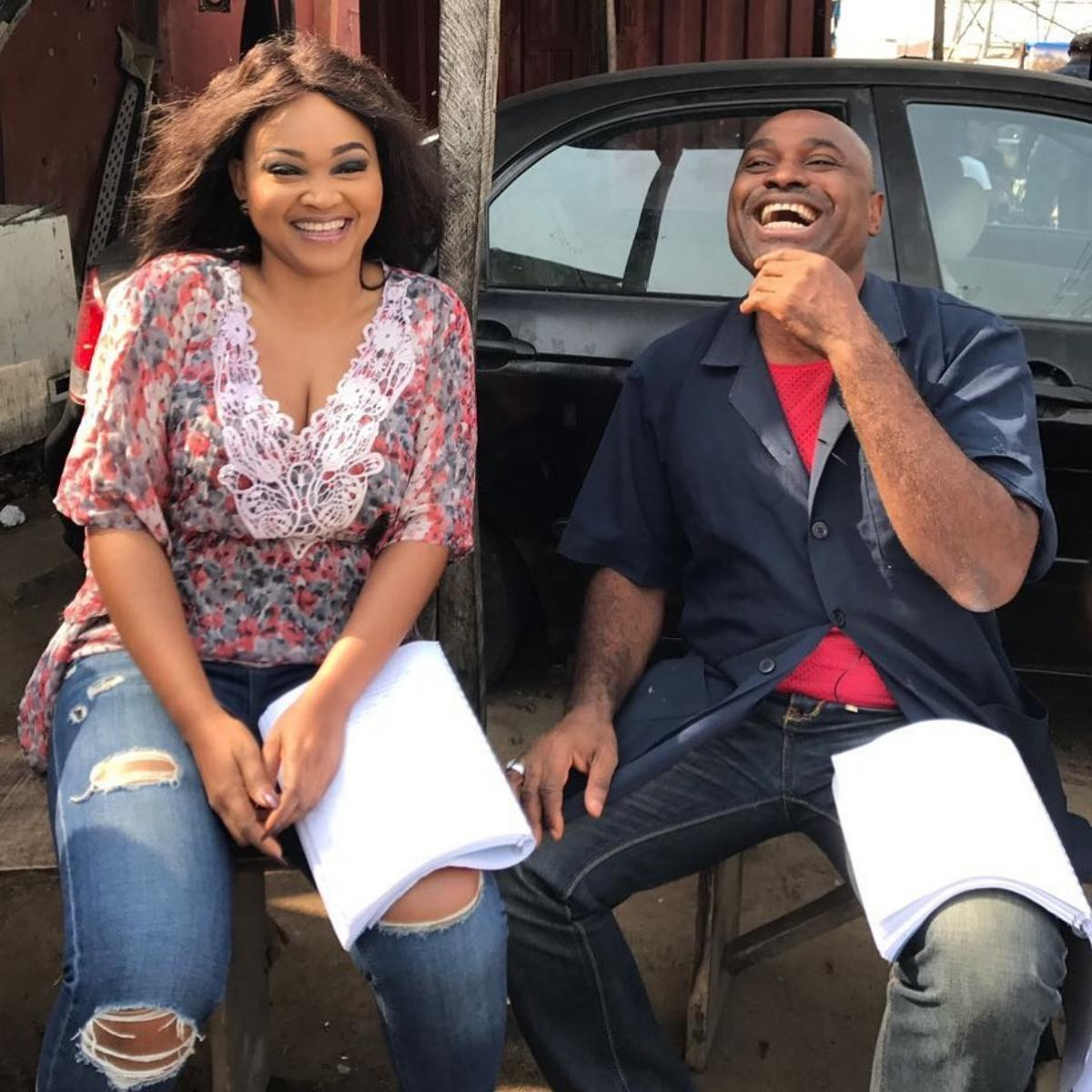 Mechanic Kenneth Okonkwo Loves Princess Mercy Aigbe Movie Set