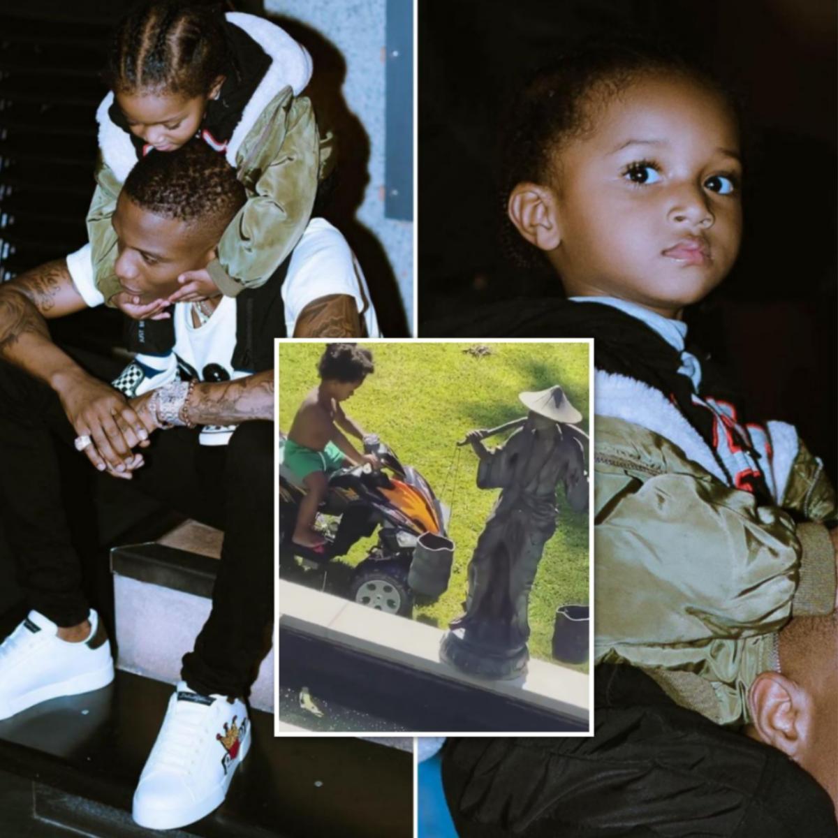 Wizkid's Son Zion Balogun Riding Skills