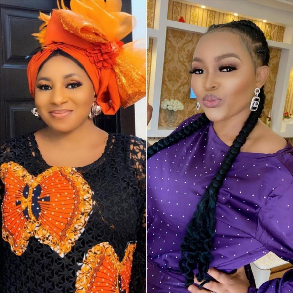 Mide Martins And Mercy Aigbe 2014 Owambe Throwback Photo
