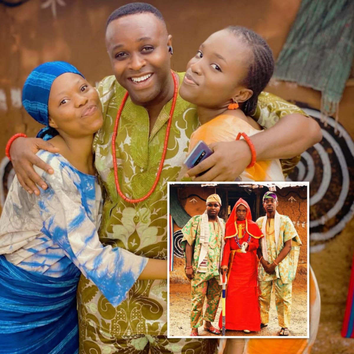 Bukunmi Oluwashina On Set Oba Nki Oba