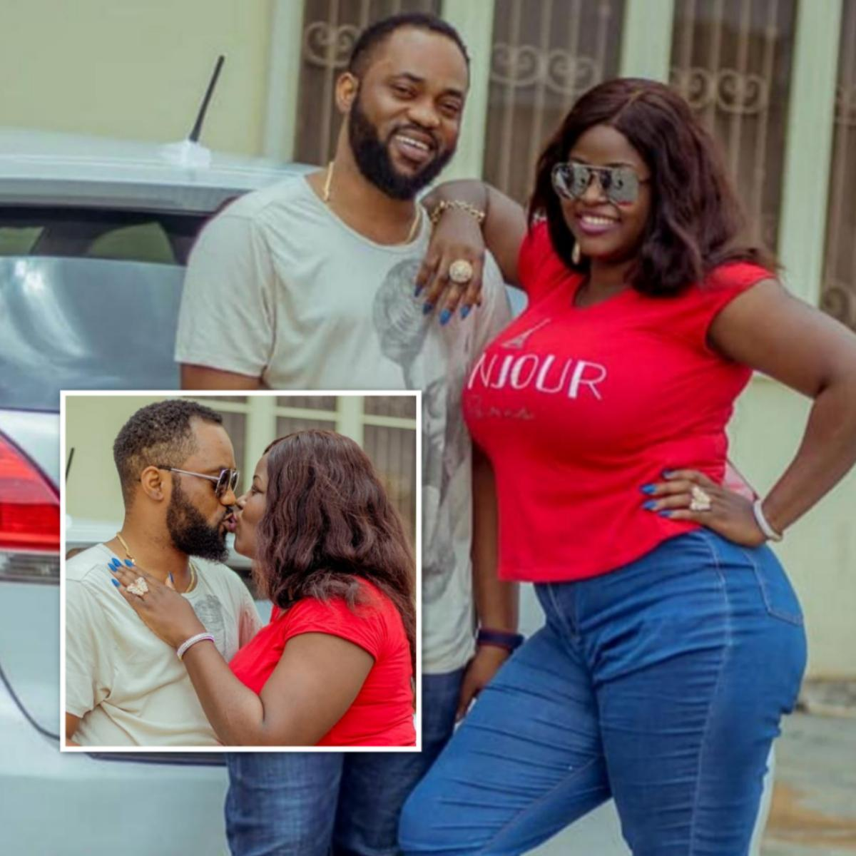 Damola Olatunji Kisses Wife Bukola