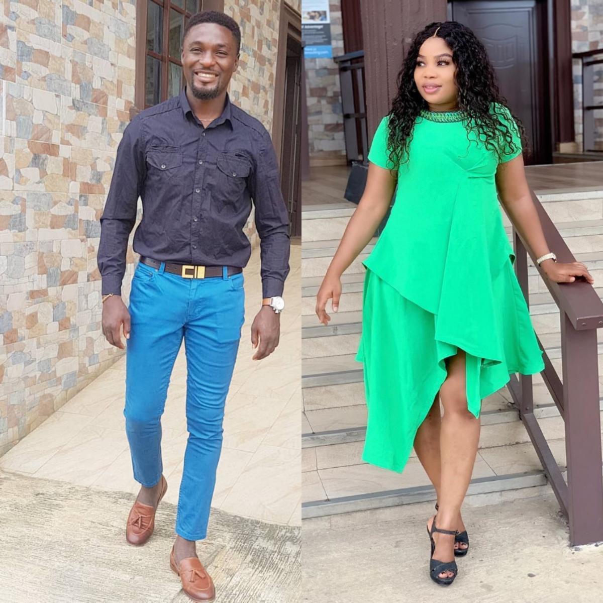 Adeniyi Johnson And Wife Seyi Edun Meet On Set OJO IFE BERE