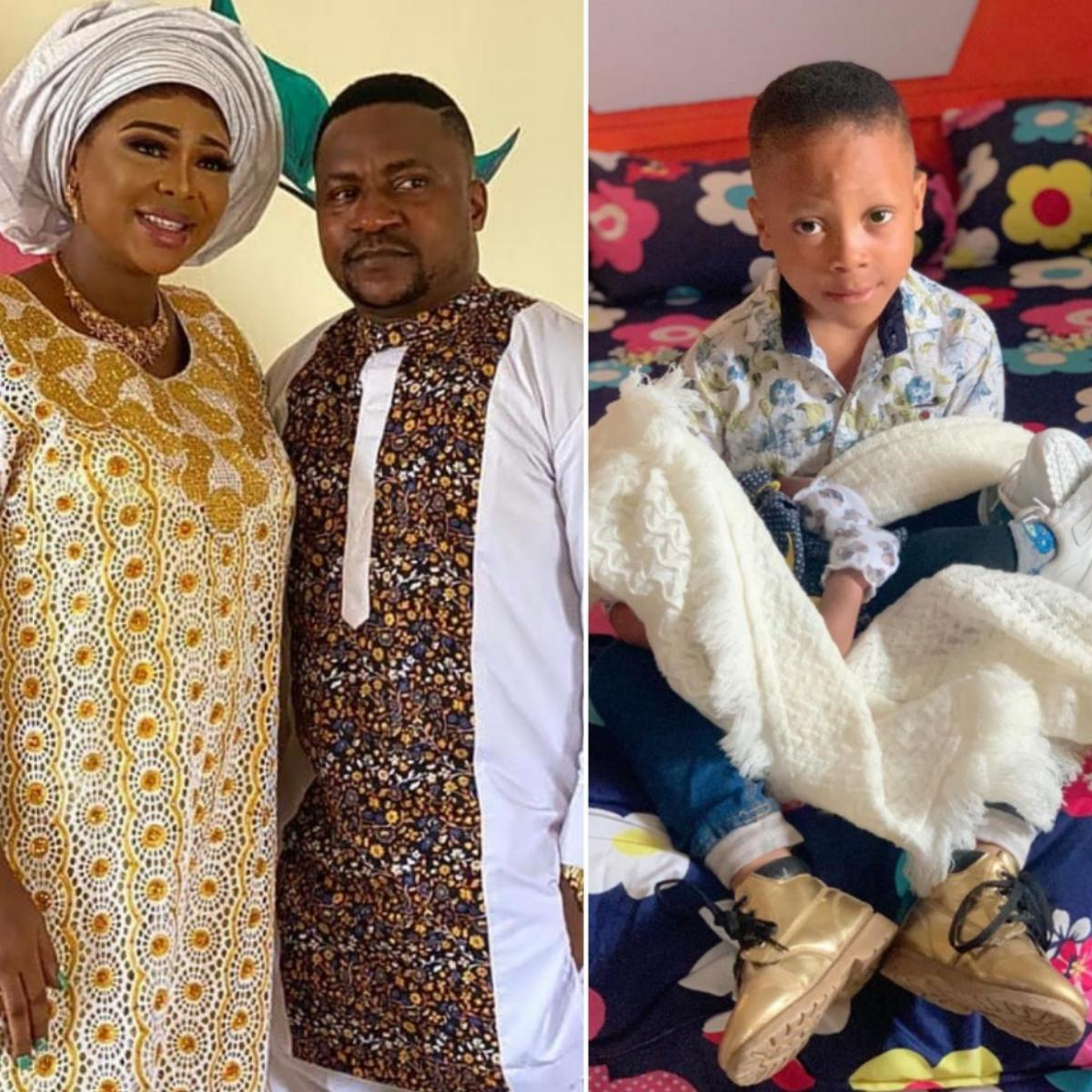Segun Ogungbe 2nd Wife Son Obadara Cradling Their Newborn