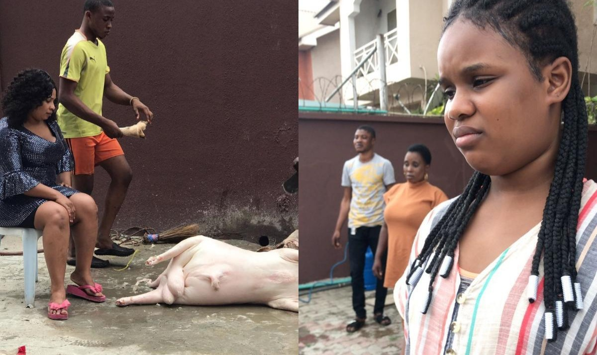 Laide Bakare Daughter Simi Cries Sallah Ram About To Be Slaughtered