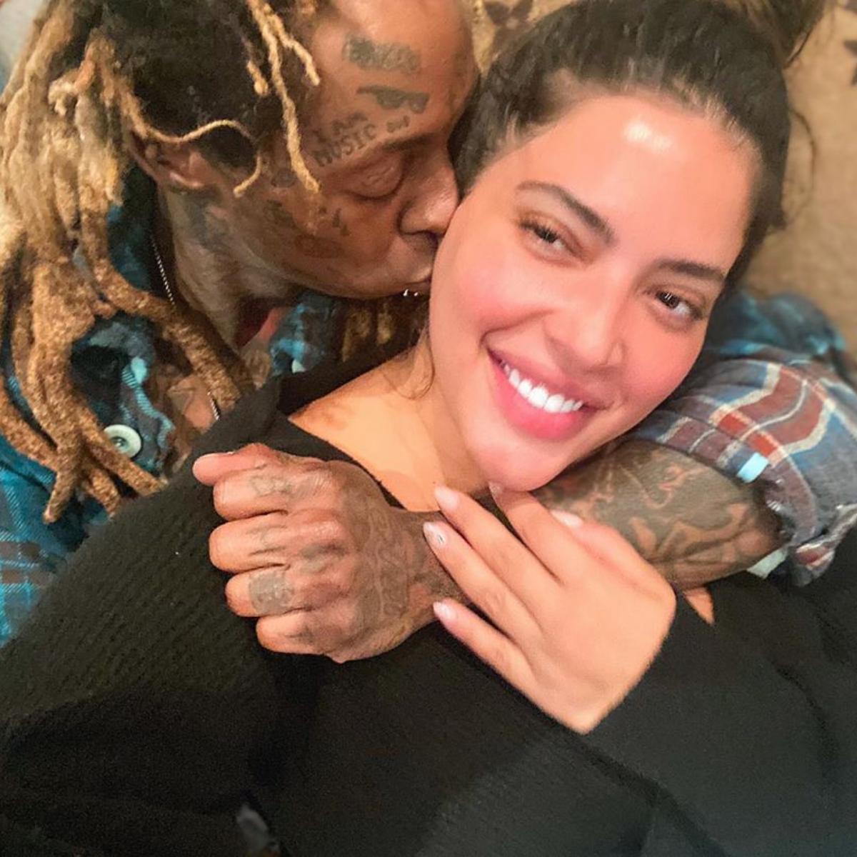 Lil Wayne With Girlfriend Denise Bidot