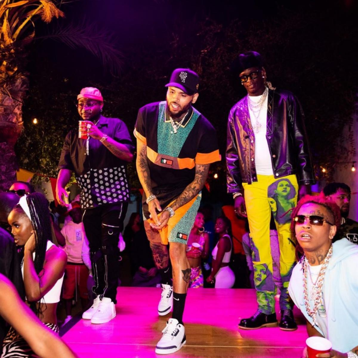 Davido With Chris Brown And Young Thug In California