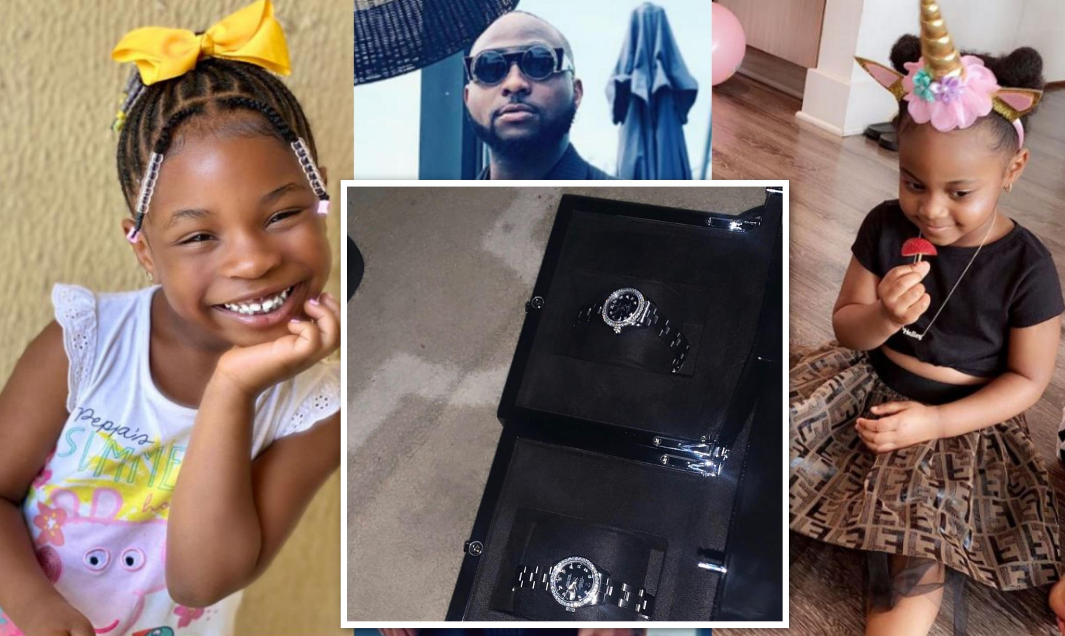 Davido Daughters Diamond Studded Rolex Watches N30M - Amebo Book