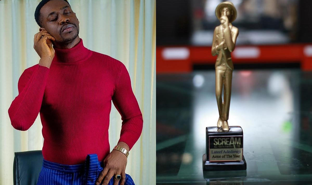Lateef Adedimeji 2020 Scream Awards Actor of The Year - Amebo Book