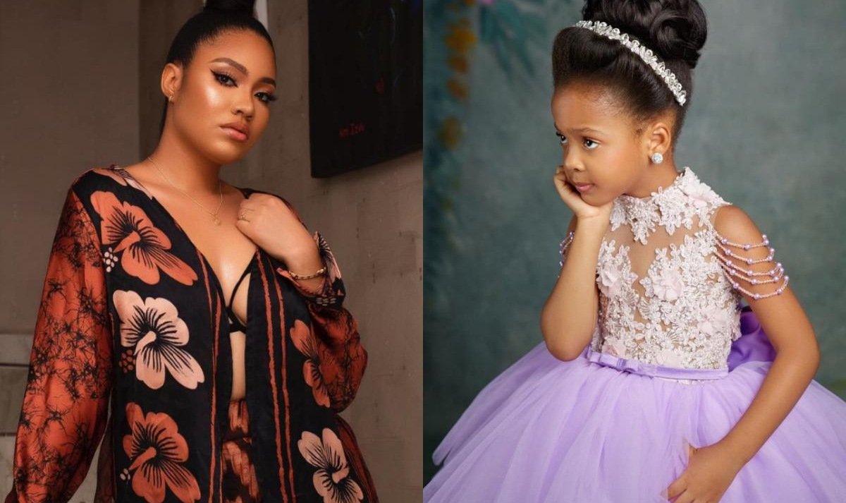 Flavour And Anna Ebiere Banner Daughter 5th Birthday