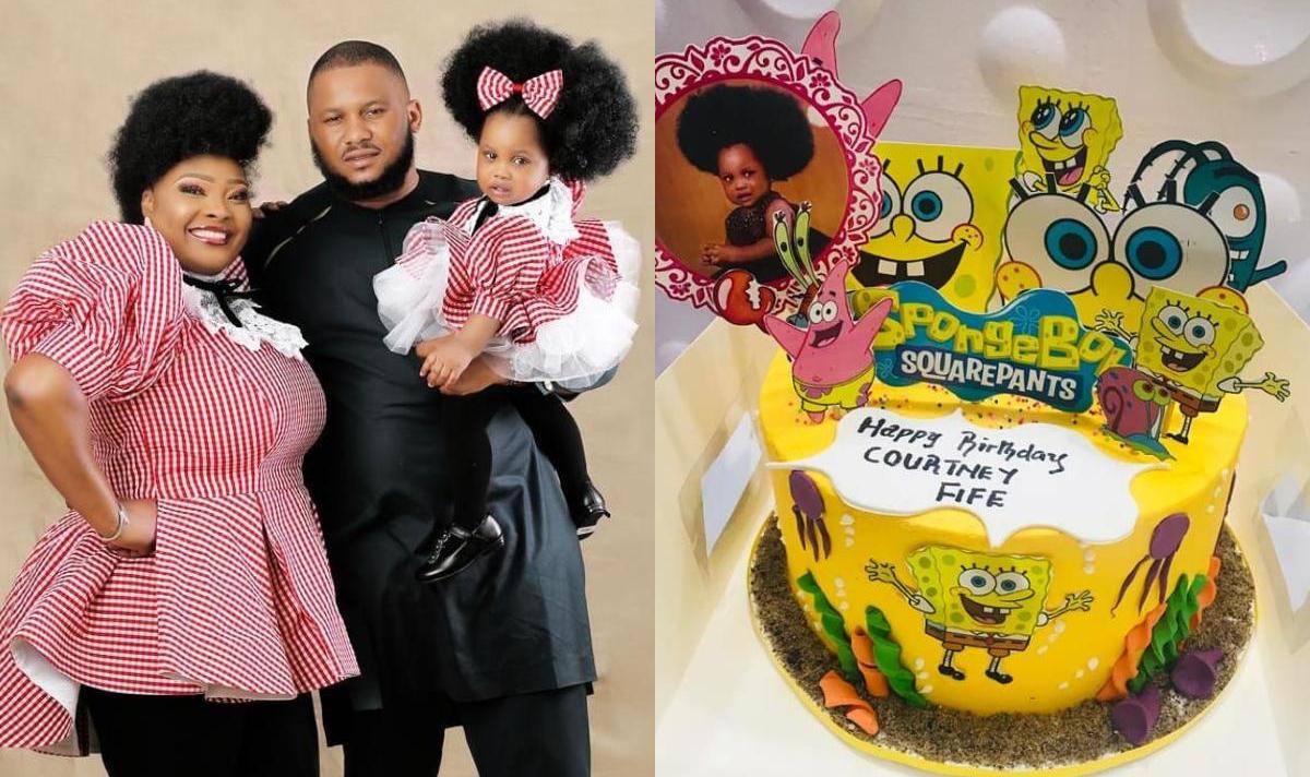 Ronke Odusanya's Daughter Fife 1st Birthday Cakes - Amebo Book