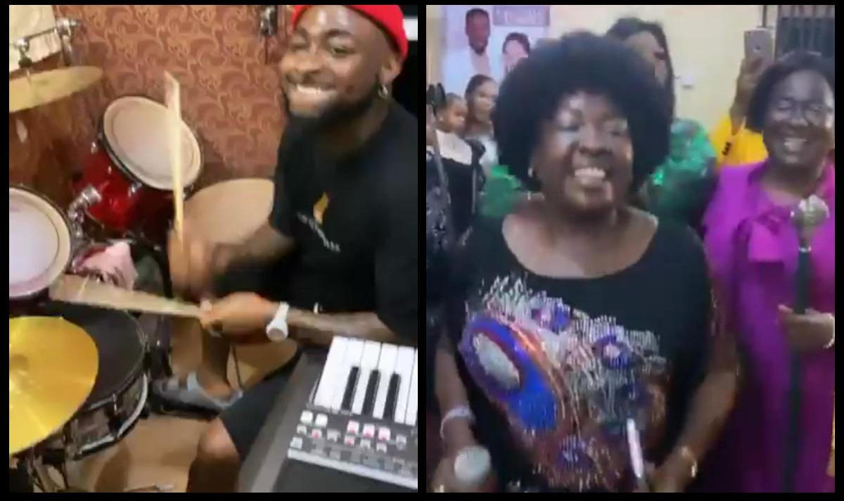 Davido Drumming During Praise And Worship Asaba (2) Amebo Book