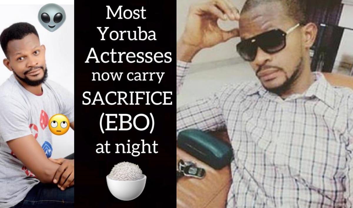Ibadan Yoruba Movie Actresses Ebo Sacrifice (2) Uche Maduagwu - Amebo Book