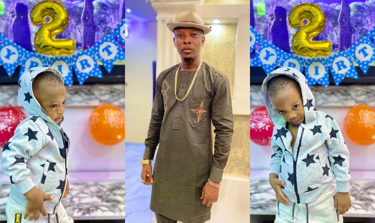 Rotimi Salami Son Legend 2nd Birthday - Amebo Book