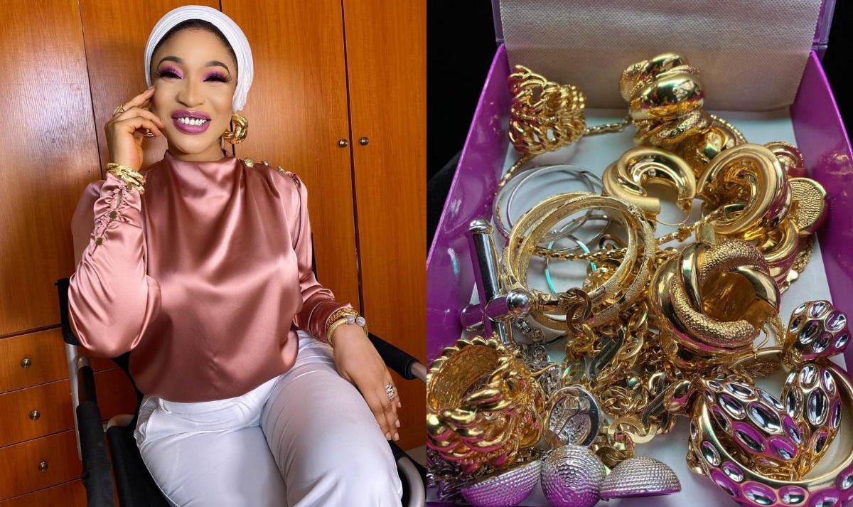Tonto Dikeh New Jewellery Collection - Amebo Book