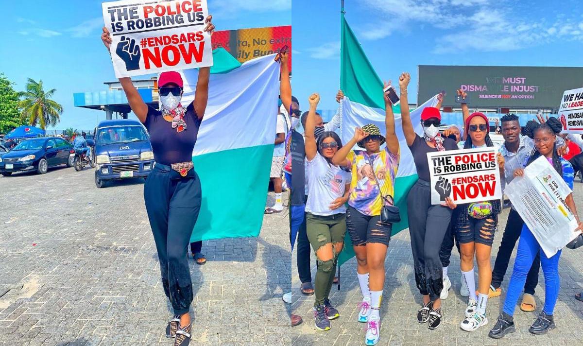 Chika Ike Protest #EndPoliceBrutalityinNigeria - Amebo Book