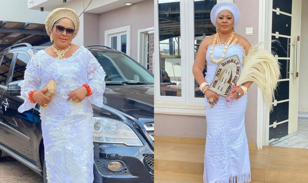 Regina Daniels Mother Rita Harvesting Yam - Amebo Book