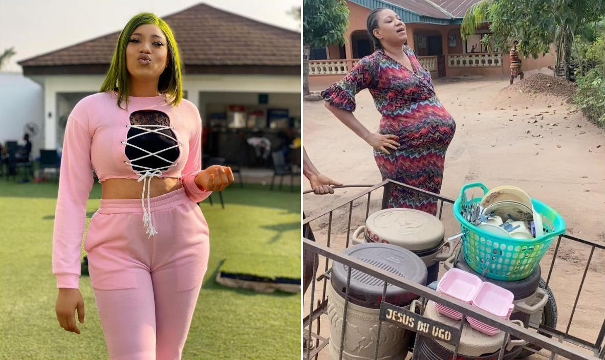 Queeneth Hilbert's On Set Baby Bump - Amebo Book