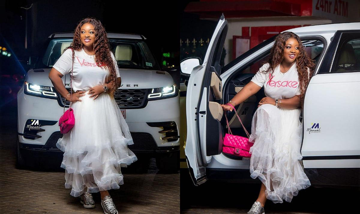 Jackie Appiah White Outfit Range Rover - Amebo Book