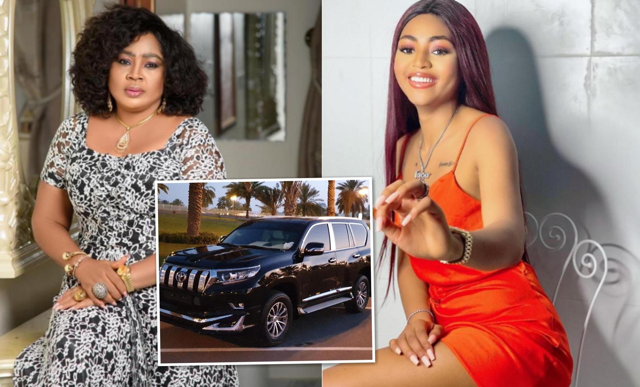 Regina Daniels Gifts Mother Prado SUV Birthday Present
