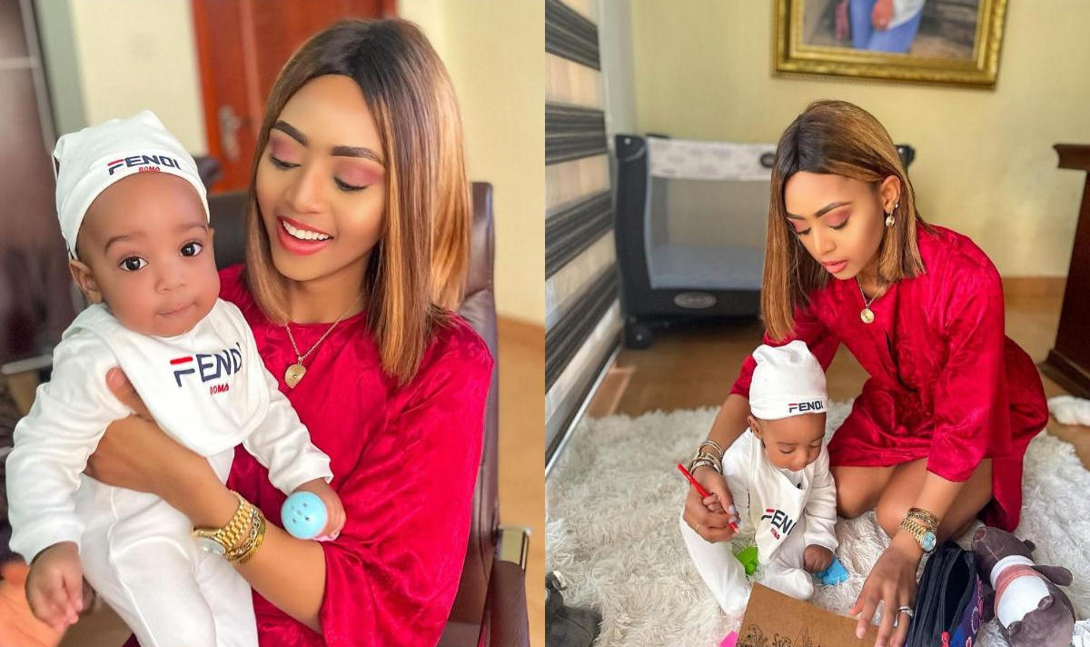Why Regina Daniels Calls Son Moon - Amebo Book