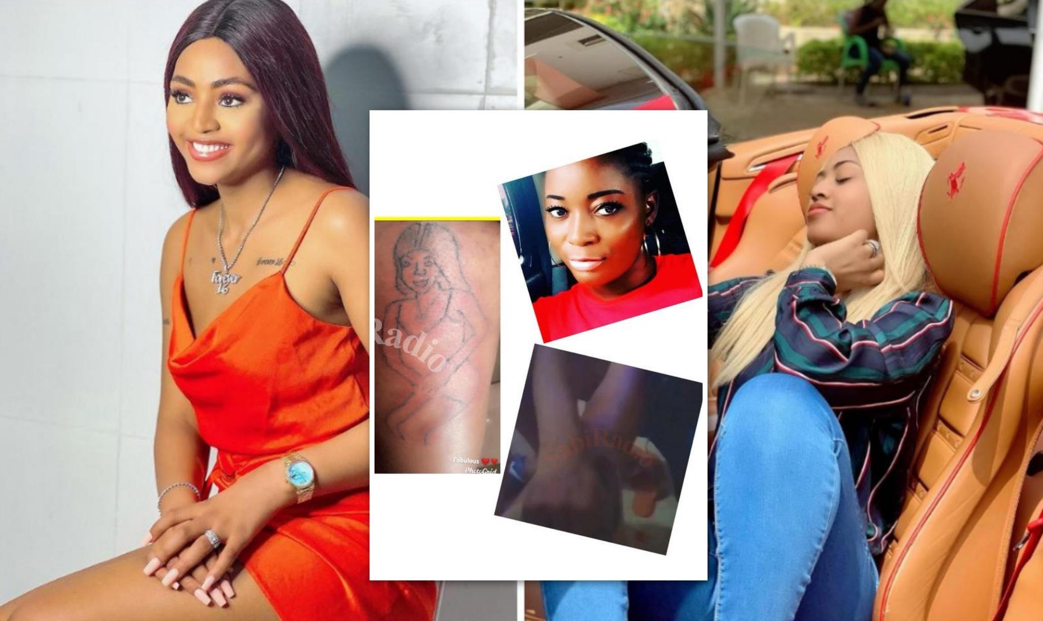 Fan Tattoos Regina Daniels Photo On Her Body - Amebo Book