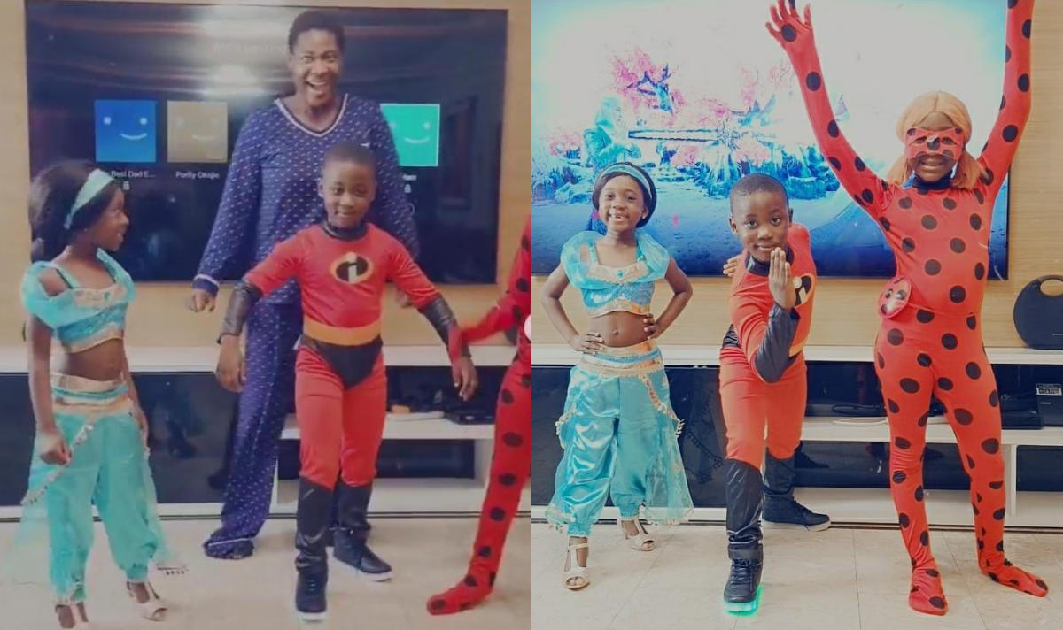 Mercy Johnson Kids Transform Into Cartoon Characters