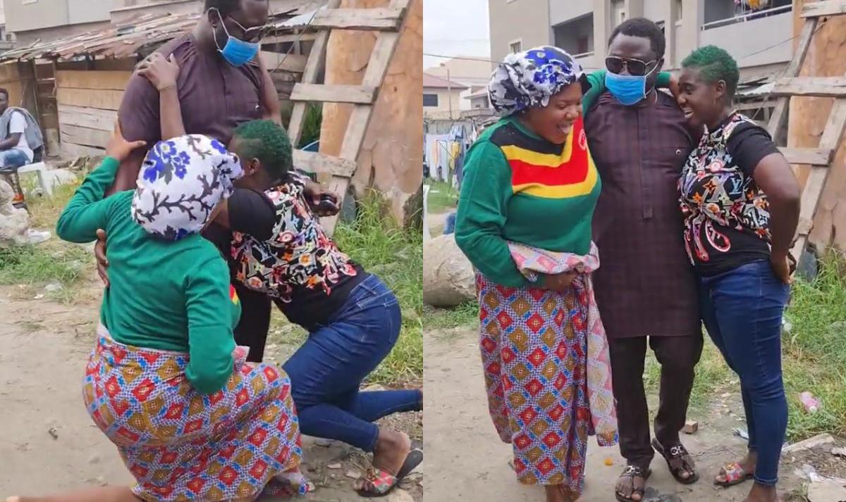 Prince Odi Okojie Visits Mercy Johnson Toyin Abraham On Set