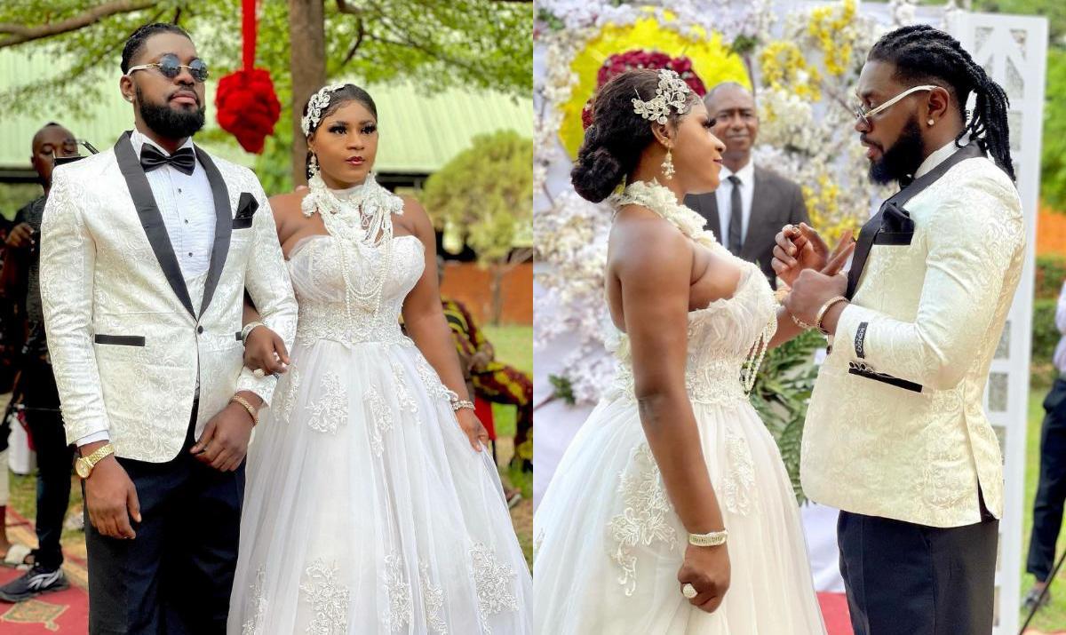 Destiny Etiko And Jerry Williams On Set Wedding