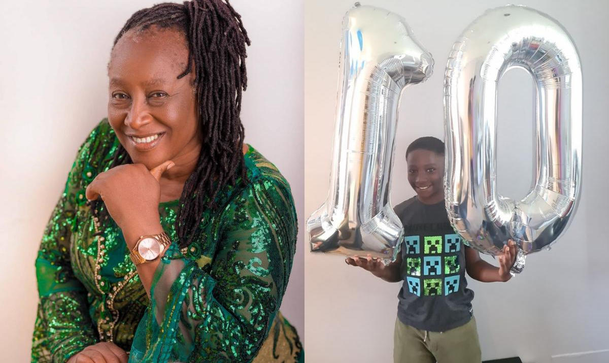 Patience Ozokwo Grandson 10th Birthday - Amebo Book