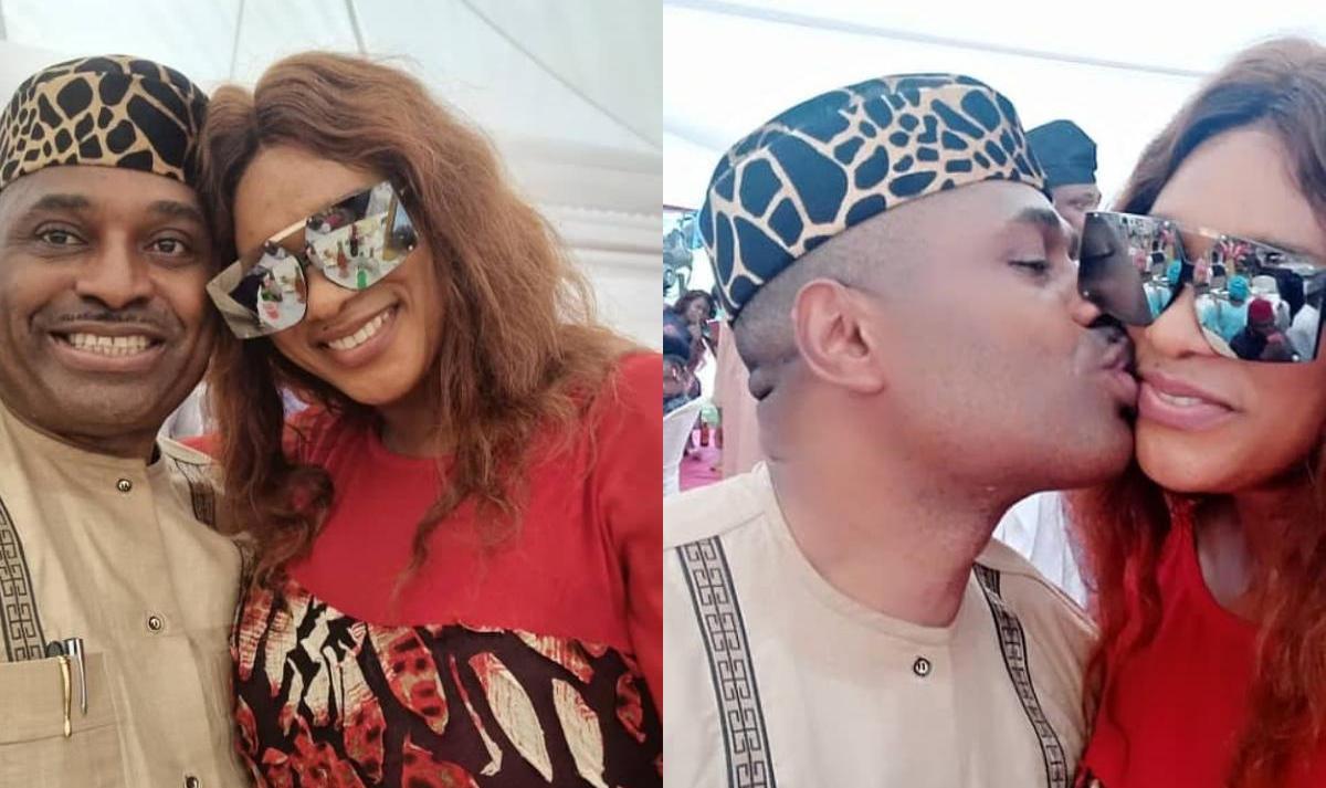 Kenneth Okonkwo And Chiege Alisigwe Cheek Kissing