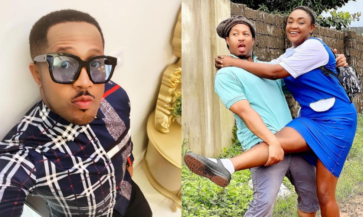 On Set With Mike Ezuruonye And Not Laugh - Amebo Book